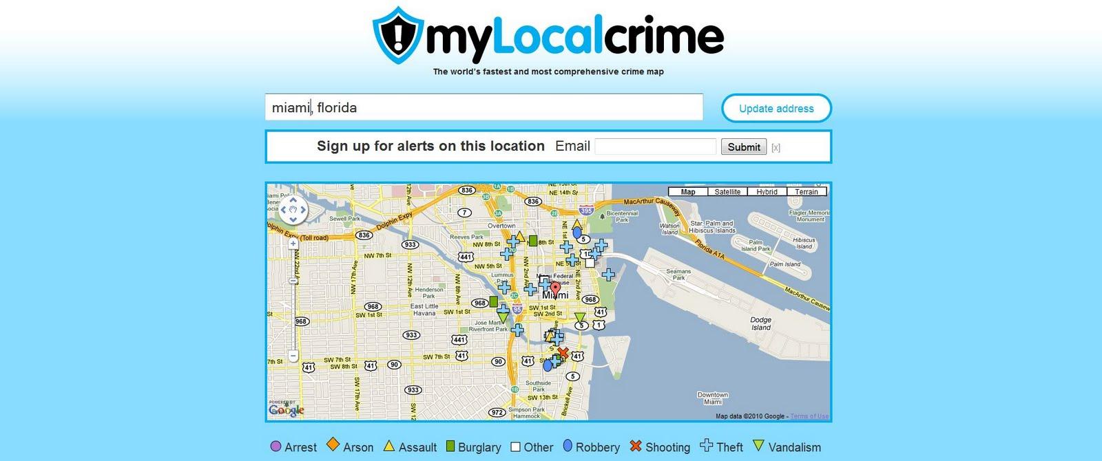 Crime Map Of Florida.Crime Maps Around The World Miami Florida Crime Map