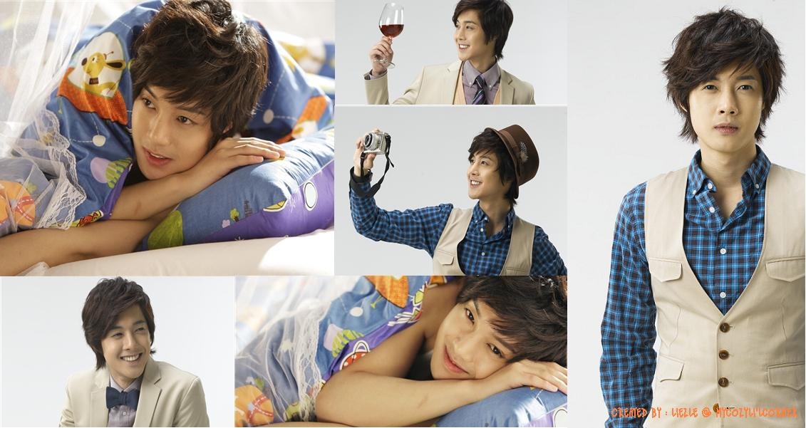 so cute of Hyun Joong lying on