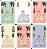 Karty s různými symboly