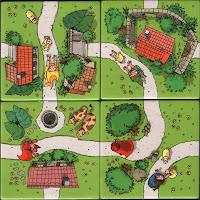 /></a>Hra  má stručnou legendu, která je rovněž výtvarně zachycena na kartičkách.  Ve městě Carcassonne se koná slavnost, při níž jsou vypuštěna domácí  zvířata z ohrad a kurníků. Děti se celý den baví tím, že běhají po  cestách v okolí města, aby rozprchlé ovečky, slepičky, kravičky zahnaly  zpět. </span><br /><span class=
