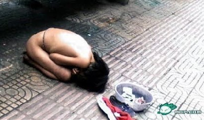chinese naked beggar