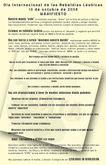 MANIFIESTO REBELDIAS LESBICAS