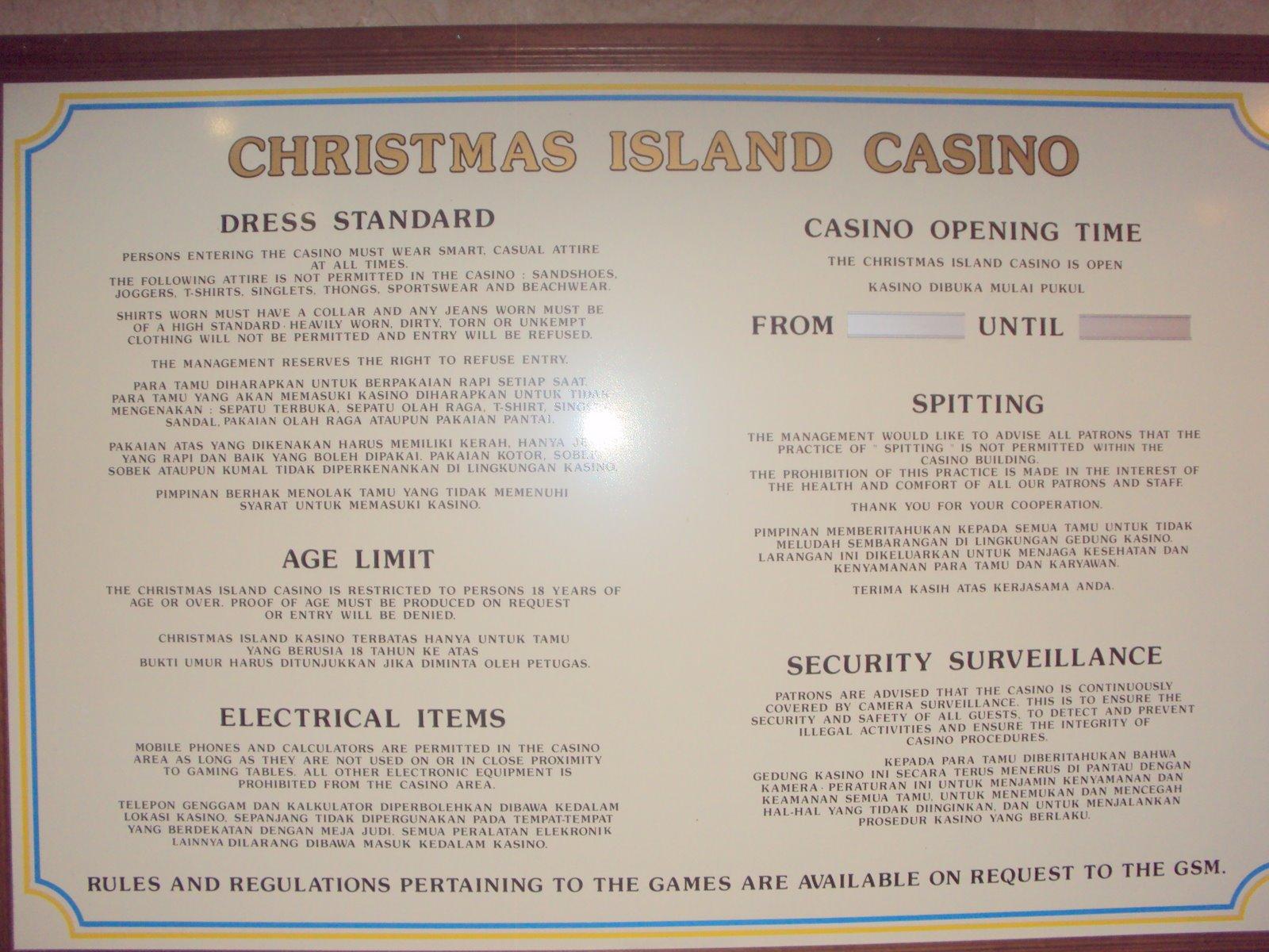 Christmas island gambling