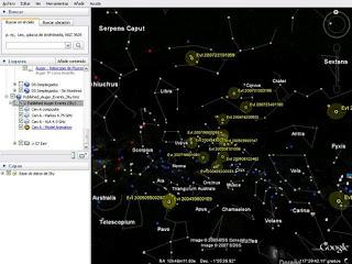 Pierre Auger en Google Sky