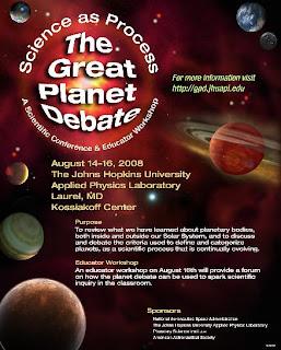 El gran debate planetario:Poster