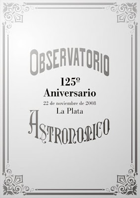 Placa 125 aniversario Observatorio Astronómico La Plata