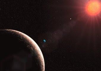 Ilustración de Gliese 581 e