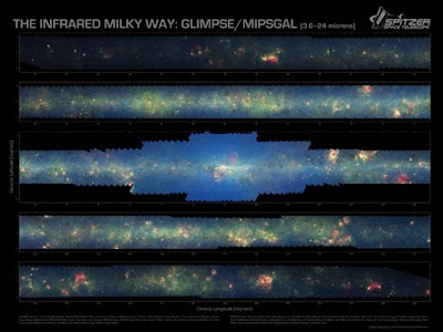 Vía Láctea por Spitzer