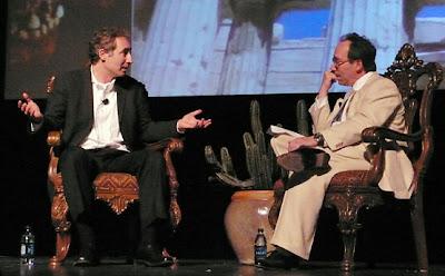 Brian Greene (izq.) y Lawrence Krauss