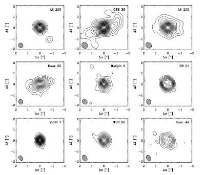 9 discos protoplanetarios
