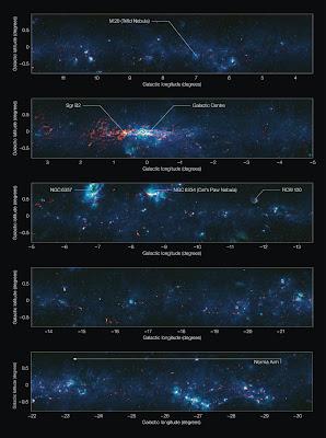 Plano galactico por ATLASGAL con anotaciones
