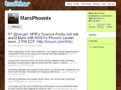 Mars Phoenix Twitter
