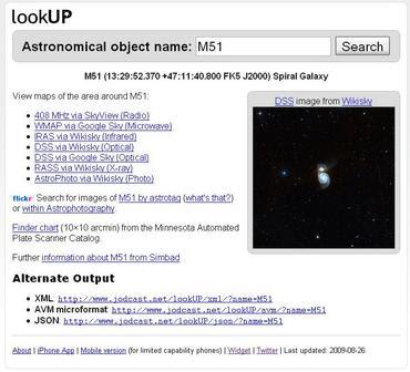 M51 en LookUP