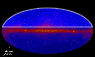 Mapa de fuentes gamma Fermi