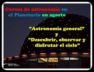 Cursos agosto planetario