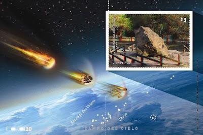 Estampilla Correo Argentino Meteoritos Campo del Cielo Emisión 1080