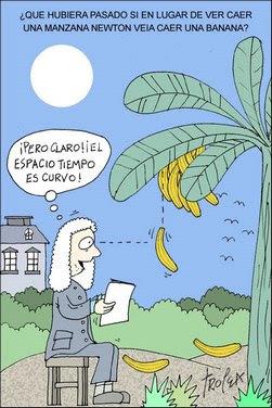 La banana de Newton