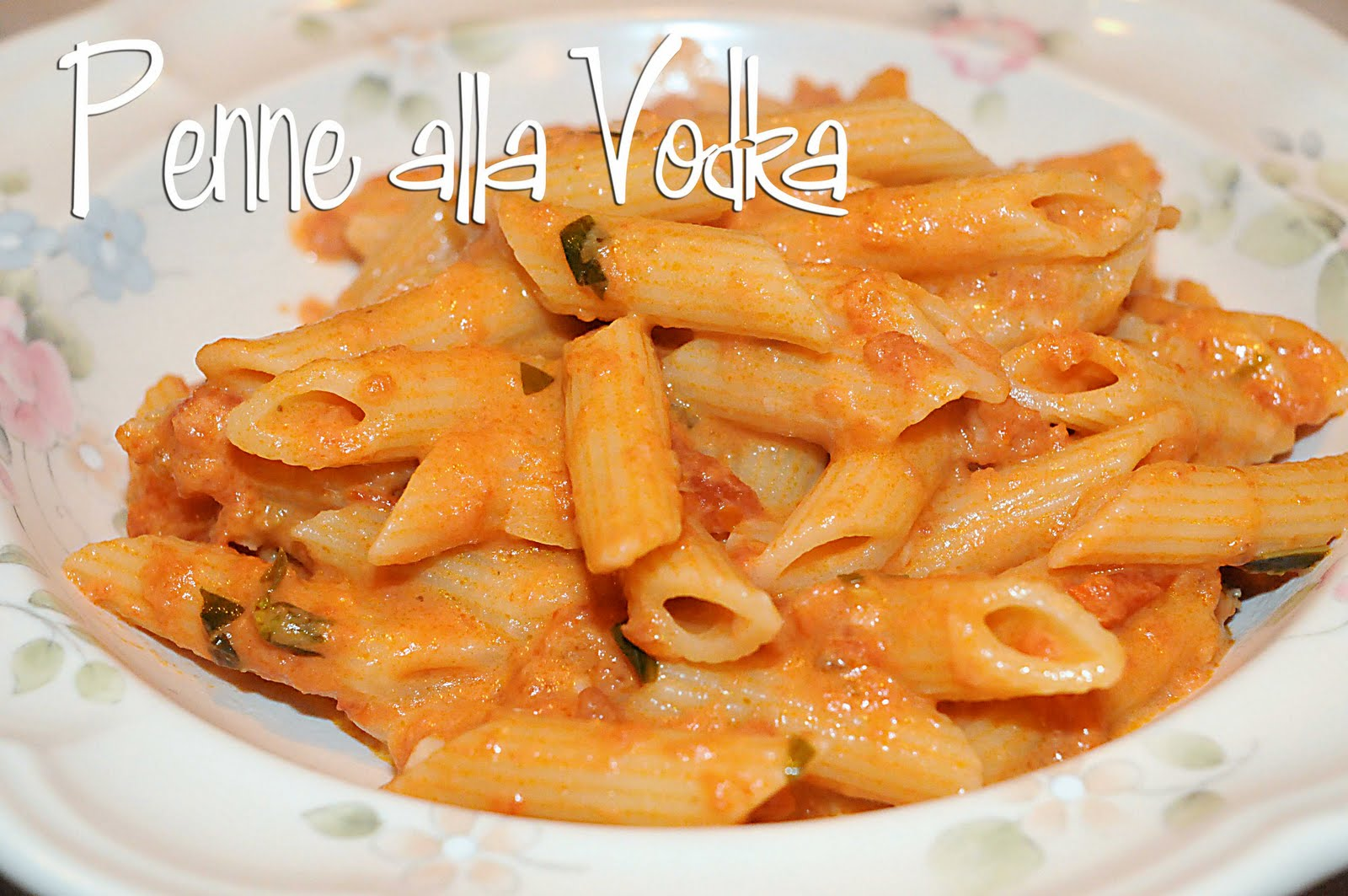 ... Chicken: Comfort Food: Penne alla Vodka - *Update at end of Post