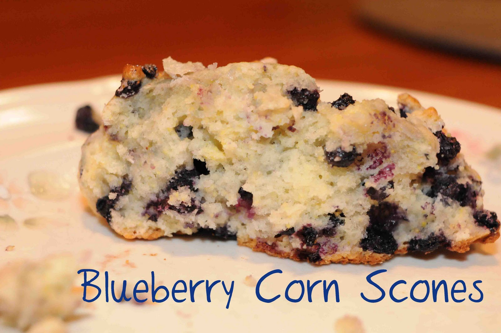 Gonna Stuff a Chicken: Recipe: Blueberry Cornmeal Scones