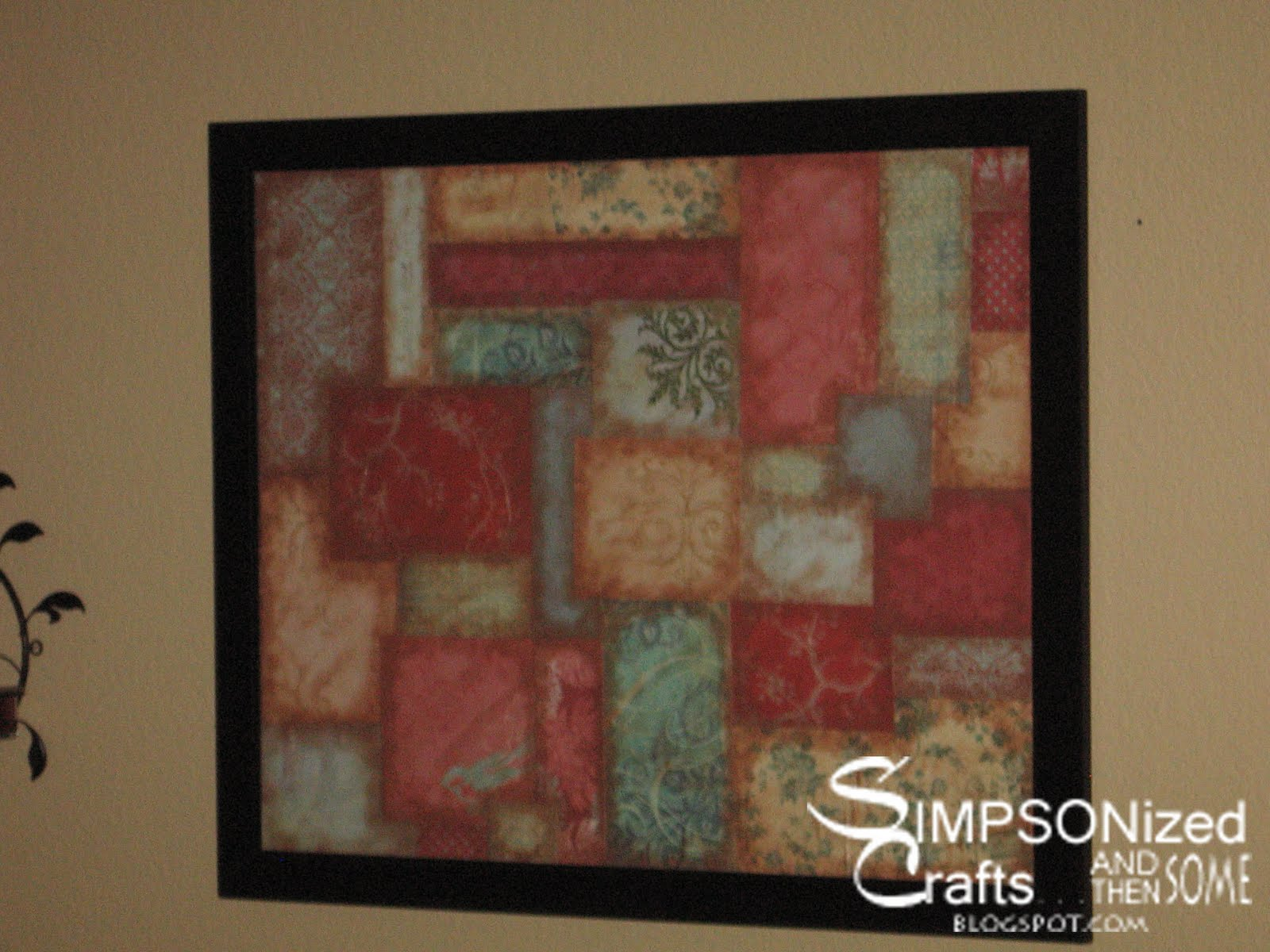 Scrapbook paper art ideas - The Things You Can Do With Scrapbook Paper Wall Decor