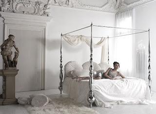 fresh white design interior bedroom