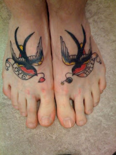 Feet Animal Tattoos Art Design