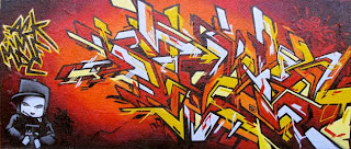 explosion graffiti alphabet people