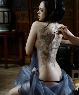 tattoo full body  girl sexy