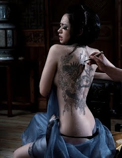 lower back tattoo on girls