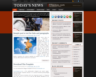 Today News Elegant Blogger Templates