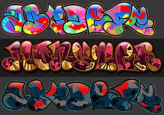 Graffiti Creator 2 Alphabet letters