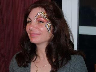 Design Tattoos of buterflies on face girls