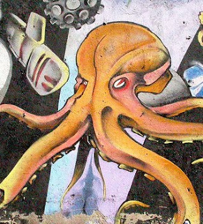 Octopus Graffiti Design wall