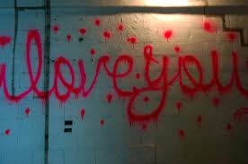 Red Love Graffiti Alphabet Letters