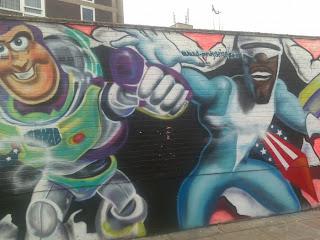 hero street graffiti art
