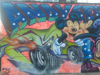 Micky MOuse Street Graffiti