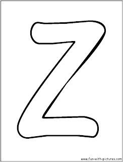 buble letters Z alphabet