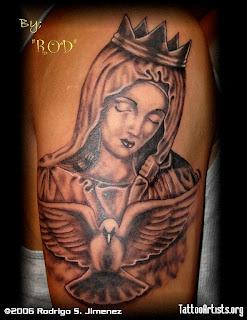 virgin tattoos art marry