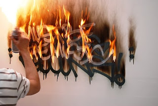 Fire Graffiti Tagging