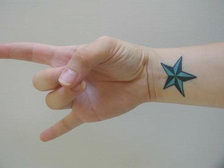 "Tattoos On wrist Ideas "" Star Tattoo """