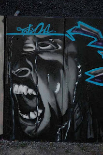 graffiti art black white