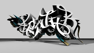 graffiti art alphabet design