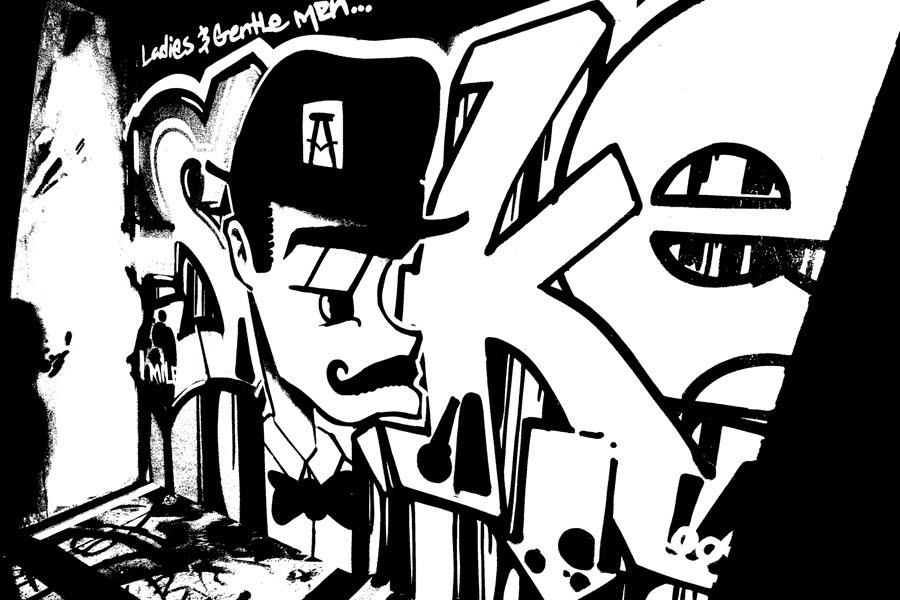 Graffiti black and white design