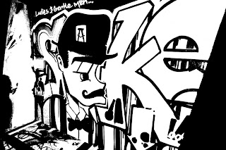 graffiti black and white design
