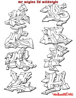 Graffiti Design mr wiggles