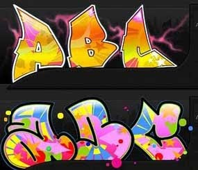 2 Graffiti Fonts ABC