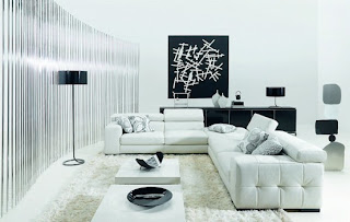modern living rooms black and white decoration