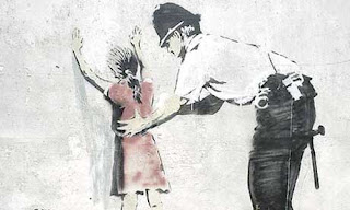 graffiti banksy art police