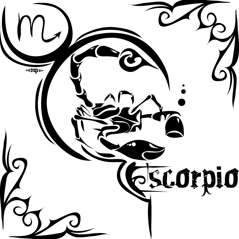 Tribal Scorpio Zodiac Sign Tattoos