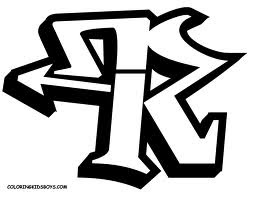 graffiti letters R design